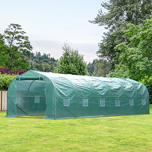 Walk-In-Greenhouse-2625-Extra-Large-PE-Green-Cover-Plant-Flower-Outdoor-Garden-With-Ebook-0-0