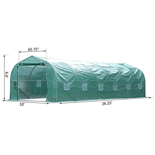 Walk-In-Greenhouse-2625-Extra-Large-PE-Green-Cover-Plant-Flower-Outdoor-Garden-With-Ebook-0-1
