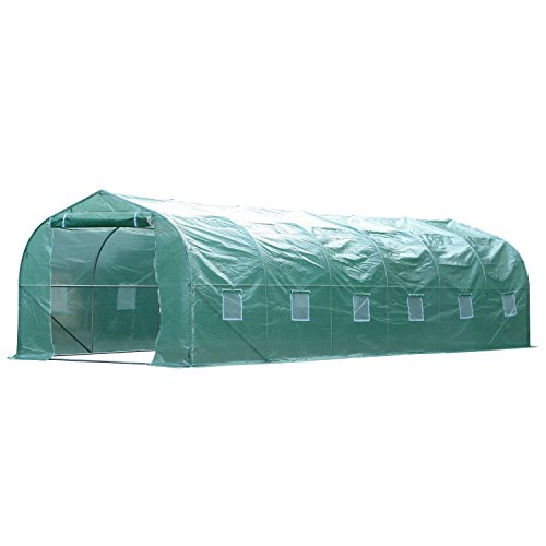 Walk-In-Greenhouse-2625-Extra-Large-PE-Green-Cover-Plant-Flower-Outdoor-Garden-With-Ebook-0