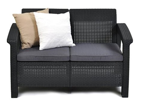 Wicker-Patio-LoveseatOutdoor-Cushions-Color-Grey-0-0
