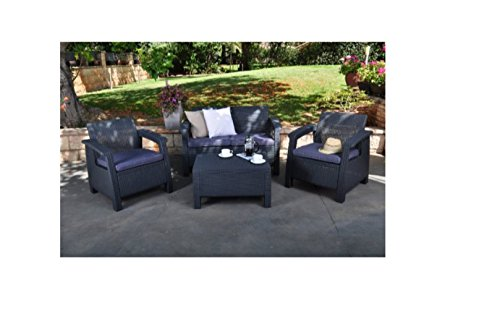 Wicker-Patio-LoveseatOutdoor-Cushions-Color-Grey-0-1