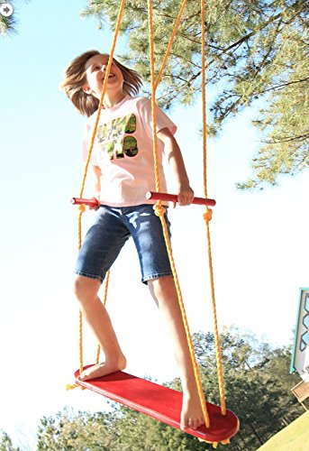 Wind-Surfer-Skateboard-Rope-Tree-Swing-with-Wooden-Seat-Porch-and-Garden-Swing-with-Weight-Capacity-of-300-Lbs-Made-in-USA-0