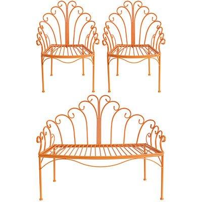 Wire-Childs-Love-Seat-Chair-Set-Orange-0