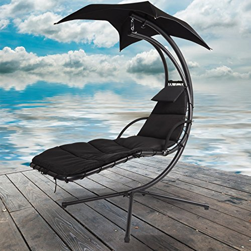 World-Pride-Garden-Helicopter-Dream-Swing-Chair-Outdoor-Hammock-Bed-Hanging-Sun-Loungers-with-CanopyParasol-Removable-Padded-Cushion-0