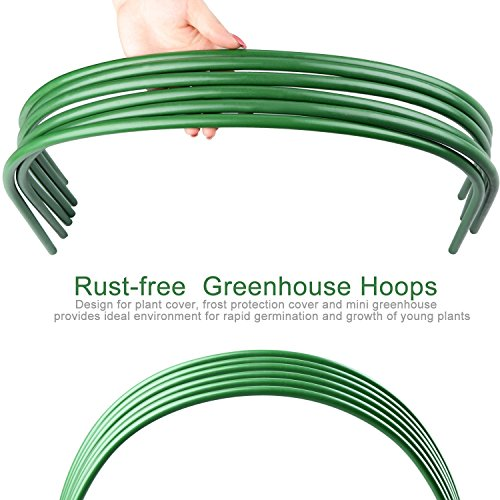 XINYI-Mini-Greenhouse-Hoops-Hoop-House-Kit-Long-Steel-with-Plastic-Coated-Hoops-for-Greenhouse-Support-Excluding-Insect-Net-Insulation-Film6-pack-0-1