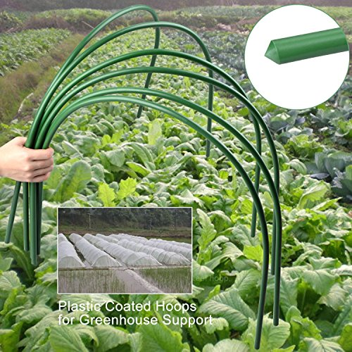 XINYI-Mini-Greenhouse-Hoops-Hoop-House-Kit-Long-Steel-with-Plastic-Coated-Hoops-for-Greenhouse-Support-Excluding-Insect-Net-Insulation-Film6-pack-0-2