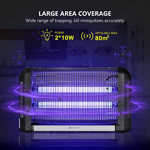 YUNLIGHTS-Electric-Bug-Zapper-Light-20W-Mosquito-Killer-Fly-Trap-Wall-Sconce-Fly-Light-for-Restaurant-Kitchen-Garage-0-0