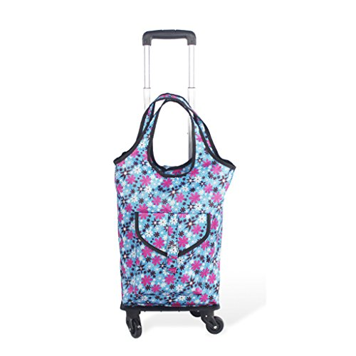 hand-Push-car-Aluminum-alloy-universal-wheel-telescopic-folding-buy-dish-shopping-cartrolley-bagtravel-bagshopping-bag-0