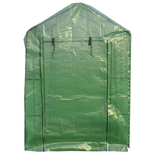 lunanice-8-Shelves-Greenhouse-Portable-Mini-Walk-In-Outdoor-Green-House-2-Tier-New-0