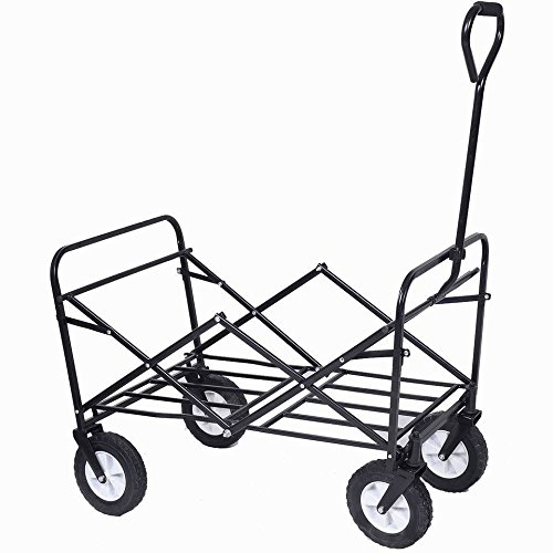 lunanice-Collapsible-Folding-Wagon-Cart-Garden-Buggy-Shopping-Beach-Toy-Sports-Red-New-0-2