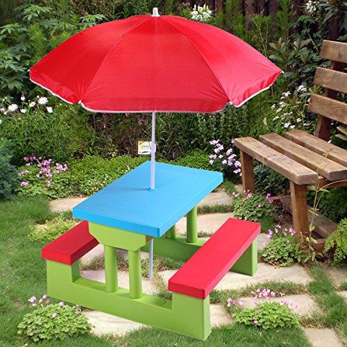 nooshi-4-Seat-Kids-Picnic-Table-wUmbrella-Garden-Yard-Folding-Bench-Children-Outdoor-0-0