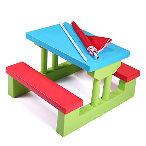 nooshi-4-Seat-Kids-Picnic-Table-wUmbrella-Garden-Yard-Folding-Bench-Children-Outdoor-0-1