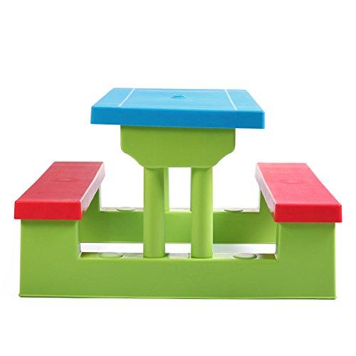 nooshi-4-Seat-Kids-Picnic-Table-wUmbrella-Garden-Yard-Folding-Bench-Children-Outdoor-0-2