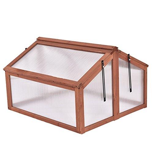 oldzon-Double-Box-Garden-Wooden-Greenhouse-Raised-Plants-Flower-With-Ebook-0