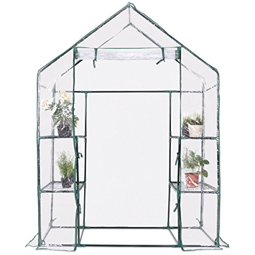 totoshop-3-Tier-House-Portable-4-Shelves-Walk-In-Greenhouse-Outdoor-New-Green-0