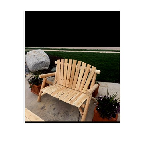 unbrand-Farmhouse-Loveseat-Log-Chaise-Lounge-Rustic-Lawn-Bench-Chair-Wood-Furniture-Patio-Outdoor-eBook-by-OISTRIA-0-0