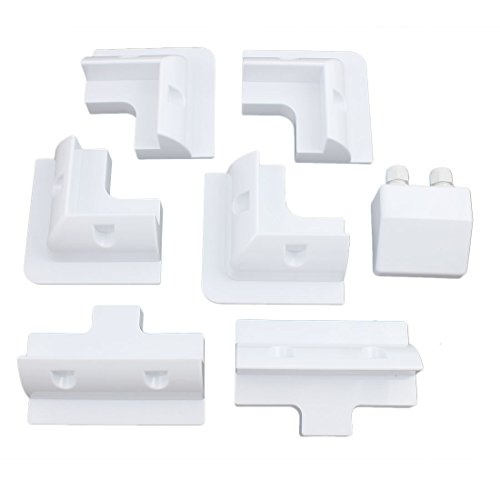 uxcell-7-in-1-White-Solar-Panel-Kit-Corner-Mount-Bracket-for-Cable-Block-Boat-Motorhome-0