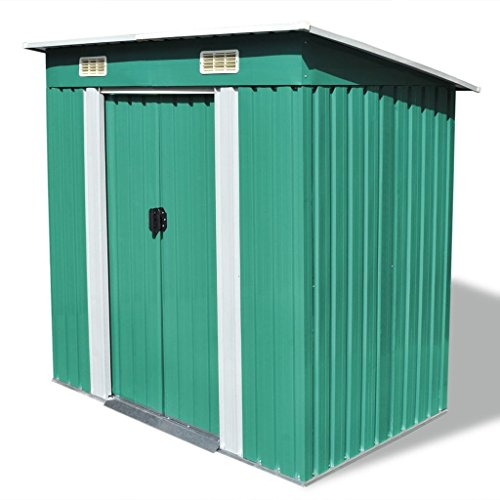 vidaXL-Garden-Shed-Metal-748x488x713-Garage-Tool-Storage-House-2-Colors-0