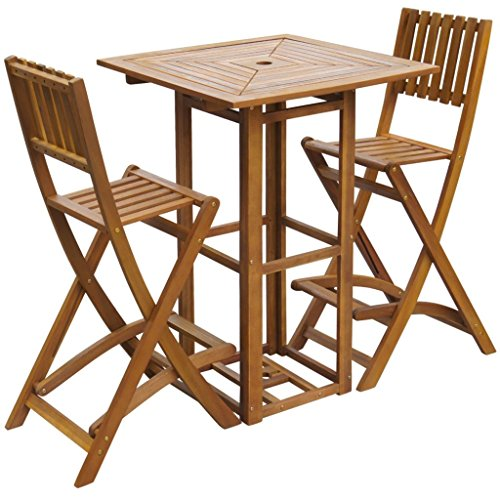 vidaXL-Patio-Bar-Table-and-Chairs-Set-Acacia-Wood-Outdoor-Restaurant-Cafe-Pub-0