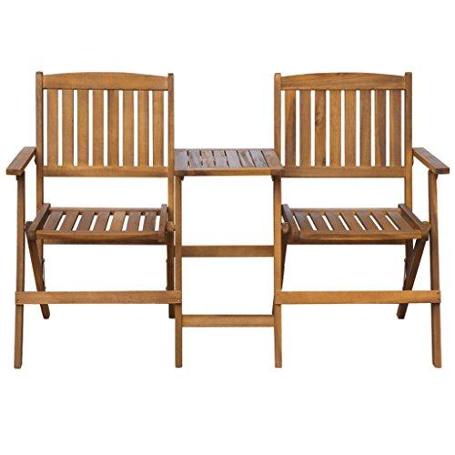 vidaXL-Patio-Solid-Acacia-Wooden-Folding-Bench-Table-Garden-Balcony-2-Seats-0-0