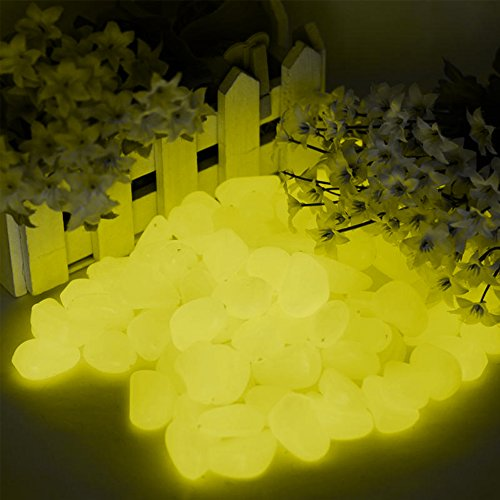 100-Pieces-of-Top-Quality-Glow-in-the-Dark-Pebbles-or-Glow-Stones-for-Walkways-Gardens-Pathways-Decoration-and-MoreYellow-0-0