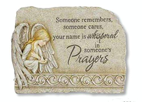 105-Religious-Prayer-Angel-Outdoor-Garden-Cemetery-Memorial-Stone-0