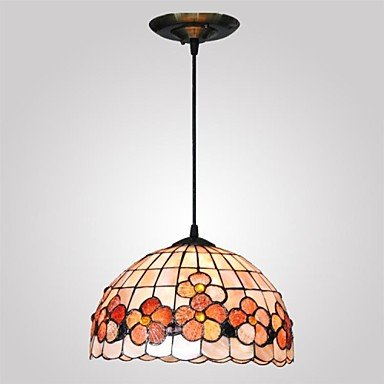 12-Inch-Flower-Design-Shell-Material-Hanging-Tiffany-Pendant-Light-0-0