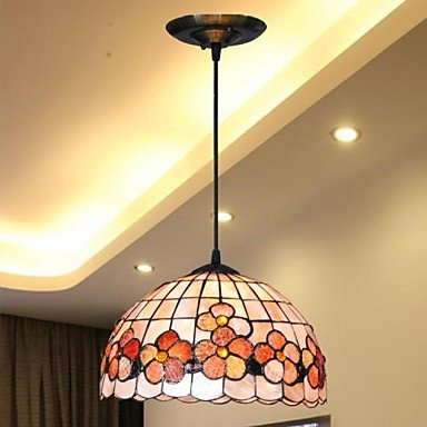 12-Inch-Flower-Design-Shell-Material-Hanging-Tiffany-Pendant-Light-0