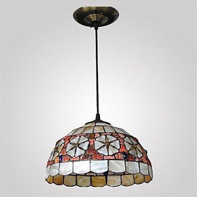 12-Inch-Shell-Material-2-Lights-Tiffany-Pendant-Light-0-1