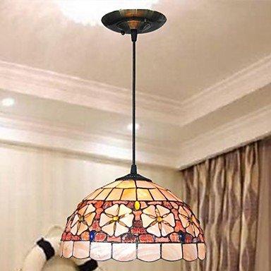 12-Inch-Shell-Material-2-Lights-Tiffany-Pendant-Light-0