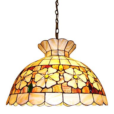 120W-Chic-Tiffany-Pendant-Light-with-Colorful-Nature-Shell-Material-Integrated-Shade-Down-in-Crown-Design-0