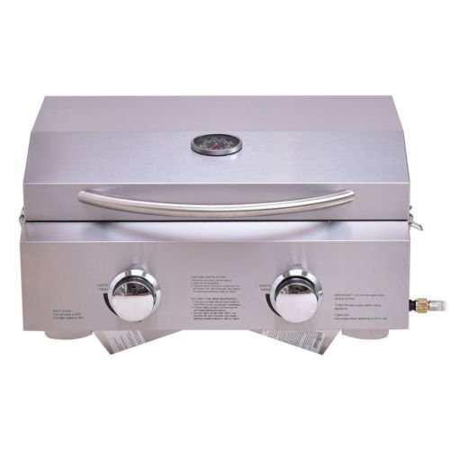 2-Burner-Stainless-Steel-Portable-BBQ-Table-Top-Propane-Gas-Grill-Outdoor-Camp-0-0