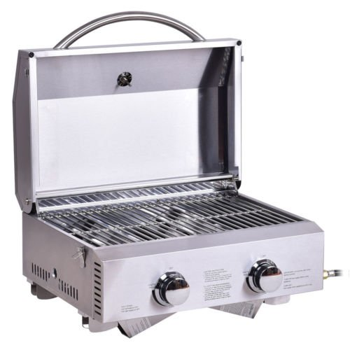 2-Burner-Stainless-Steel-Portable-BBQ-Table-Top-Propane-Gas-Grill-Outdoor-Camp-0-2