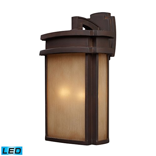 2-Light-Sconce-In-Clay-Bronze-LED-800-Lumens-1600-Lumens-Total-With-Full-Scale-Dimming-Range-60-Watt-120-Watt-TotalEquivalent-120V-Replaceable-LED-Bulb-Included-0