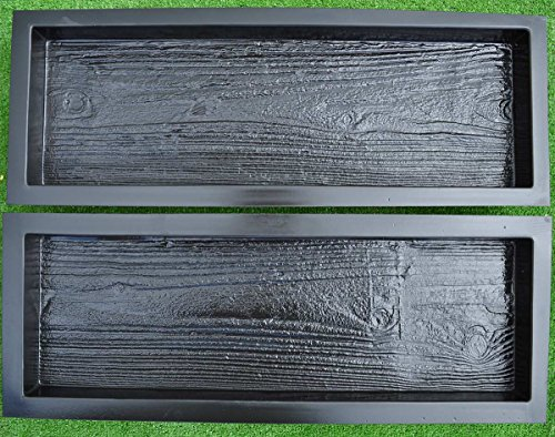 2-Molds-Old-Wooden-Boards-Concrete-Mould-Garden-Stepping-Stone-Path-Patio-S05-0-1