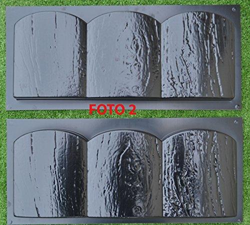 2-PIECES-EDGE-OLD-WOOD-BOARD-STONE-MOLDS-EDGING-BORDER-MOULD-GARDEN-PATH-BR03-0-0