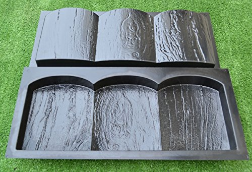 2-PIECES-EDGE-OLD-WOOD-BOARD-STONE-MOLDS-EDGING-BORDER-MOULD-GARDEN-PATH-BR03-0-2