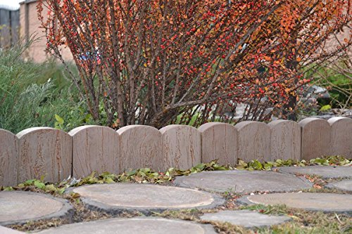2-PIECES-EDGE-OLD-WOOD-BOARD-STONE-MOLDS-EDGING-BORDER-MOULD-GARDEN-PATH-BR03-0