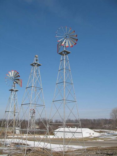 30-Ft-Made-in-the-USA-Premium-Aluminum-Decorative-Garden-Windmill-red-Trim-0-1