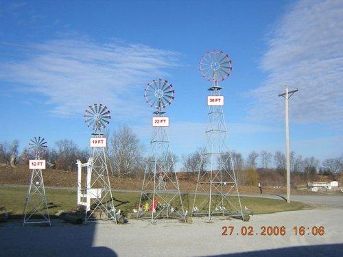 30-Ft-Made-in-the-USA-Premium-Aluminum-Decorative-Garden-Windmill-red-Trim-0