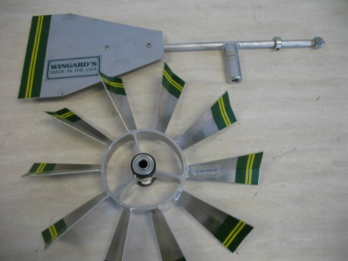 4-Ft-Premium-Aluminum-Decorative-Garden-Windmill-Green-Trim-0-0