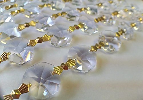 5-Yards-Asfour-Lead-Crystal-Chandelier-Prisms-Clear-Chains-0