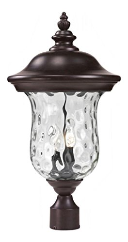 533PHM-RBRZ-Bronze-Armstrong-2-Light-Outdoor-Post-Light-with-Clear-Water-Glass-Shade-0