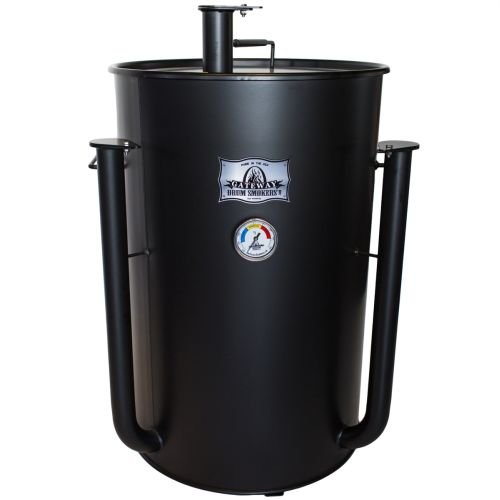 55-Gallon-Large-Capacity-Gateway-Barbecue-Drum-Smoker-Flat-Black-0