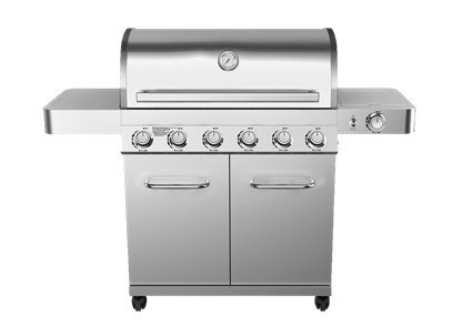 6-Burner-Propane-Gas-Grill-in-Stainless-with-LED-Controls-and-Side-Burner-0