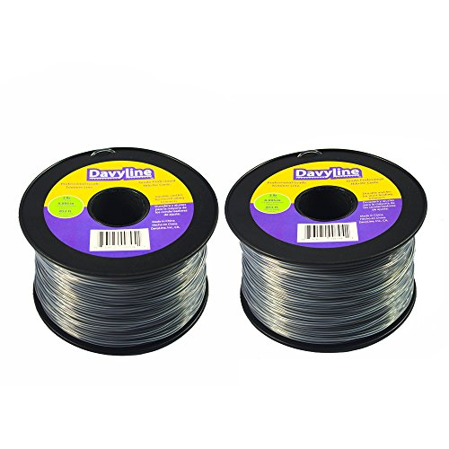 6-Lb-of-DavyLine-Professional-Heavy-Duty-Round-Shaped-Nylon-String-Trimmer-Line-Dual-Color-in-2-Units-of-3-lb-853-ft-Each-095-Diameter-Spool-0