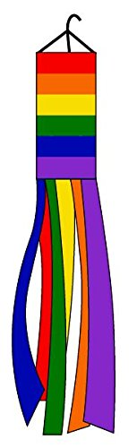 60-Lot-of-2-Rainbow-Nylon-Wind-Sock-Windsock-0