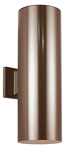 6In-Outdoor-Bullet-Two-Light-Wall-Lantern-in-Bronze-with-Clear-Tempered-Glass-0