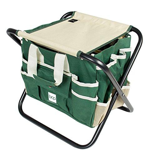 7-Piece-Garden-Tool-Set-Folding-Stool-W-Tool-Bag-5-Stainless-Steel-Tools-0-0