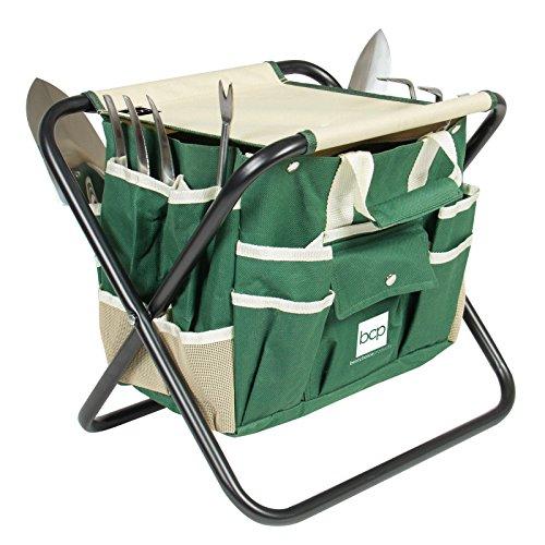 7-Piece-Garden-Tool-Set-Folding-Stool-W-Tool-Bag-5-Stainless-Steel-Tools-0